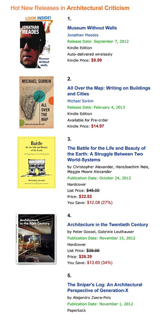 Amazon Hot New Releases: best Architectural Criticism